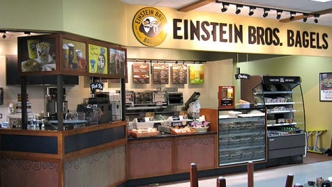 Einstein Bros. Bagels is joining Caribou in Sioux Falls.