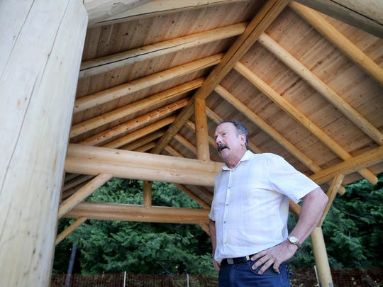 Jonathan Buesch, the treasurer of the Illahee Preserve Stewardship Committee and an East Bremerton Rotarian, was a key figure in getting the shelter built at the 572-acre park.