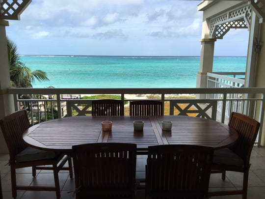 The view of the ocean from the Alexandra Resort.