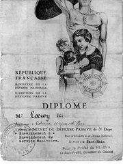 Elias Loewy's certification from the French Citizen's