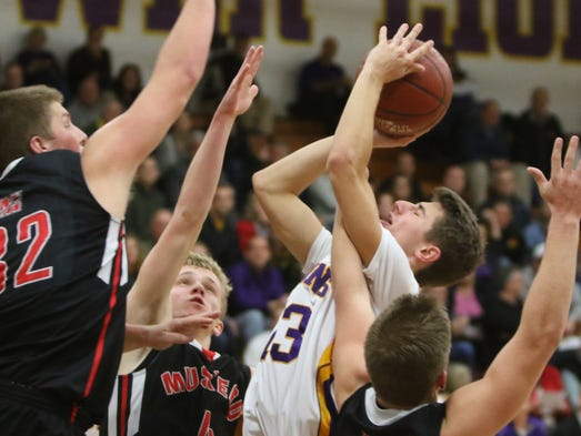 New Berlin Eisenhower's Bryce Miller drives to the