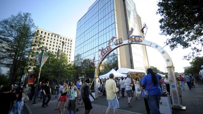 Festival goers enter the Marche des Arts during Festival International in 2014.  Paul Kieu, The Advertiser