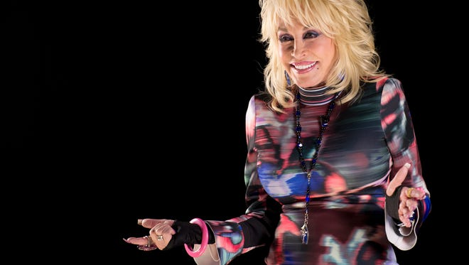 Dolly Parton speaks during a press conference at NOVE Entertainment, Monday, March 7, 2016, in Nashville, Tenn.