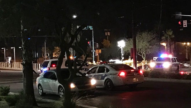 Phoenix police were at the scene of an officer-involved shooting near 22nd and Washington streets on Friday.