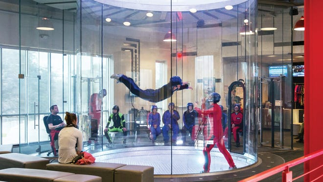 Austin-based iFLY, an indoor attraction that simulates skydiving, is among the businesses Kevin Adell says he has lined up for a redevelopment of the former Novi Expo Center site. Courtesy of Kevin Adell