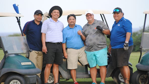 Members of the AD7 brotherhood at the Country Club