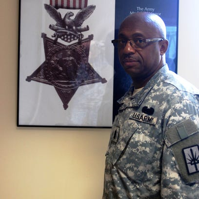 New York Army National Guard Command Sgt. Maj. Louis