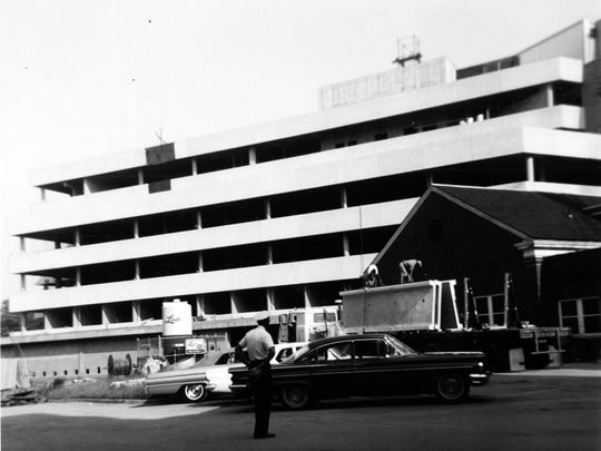 Construction is underway at Good Samaritan Hospital on June 1, 1965.