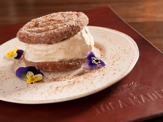 The Churro Ice Cream Sandwich at Toca Madera, opening at Scottsdale Fashion Square.