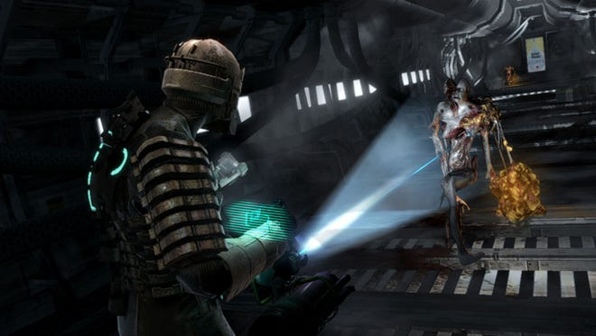 A scene from the 2008 video game 'Dead Space.'