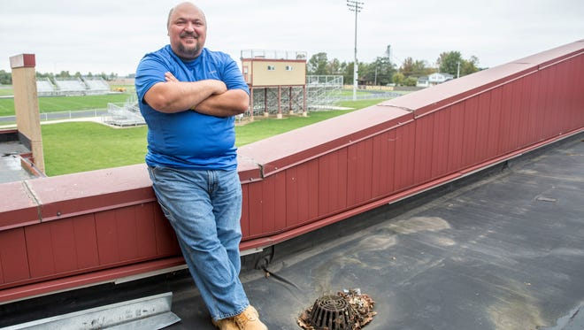 Kirby Tipple, the assistant principal for Monroe Central Jr.-Sr. High School has been camped out on the roof of the school all week after losing a bet surrounding student attendance. Tipple frequently challenges the students to meet different academic goals throughout the year.
