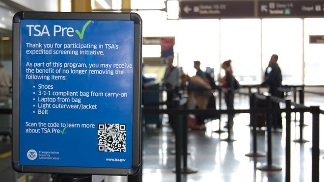 The TSA Pre-Check program offers air travelers preferred screening status if they submit to a background check.