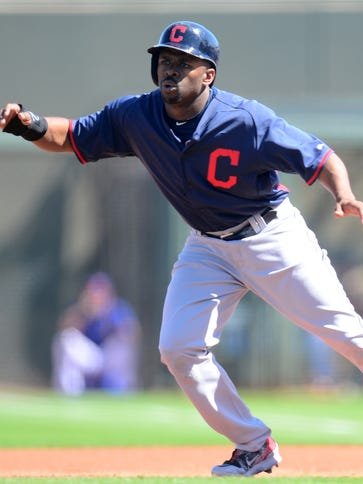 Indians center fielder Michael Bourn stole a career-low