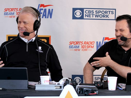 Boomer Esiason and Gregg Giannotti (right) are shown