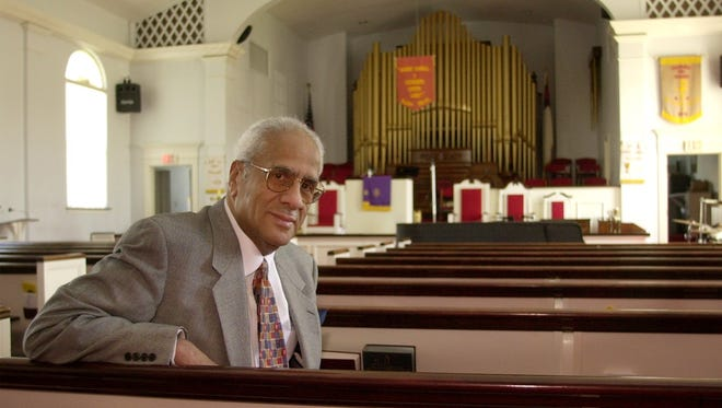 The Rev. Donald Jordan after the announcement that Allen Temple was planning to build a $9 million church in Swifton Commons.