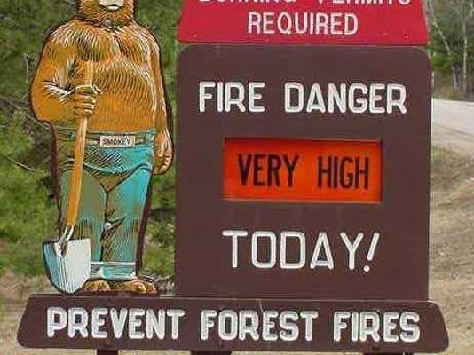 Fire danger at very high