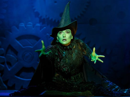 "Jessica Vosk as Elphaba in ""Wicked."""