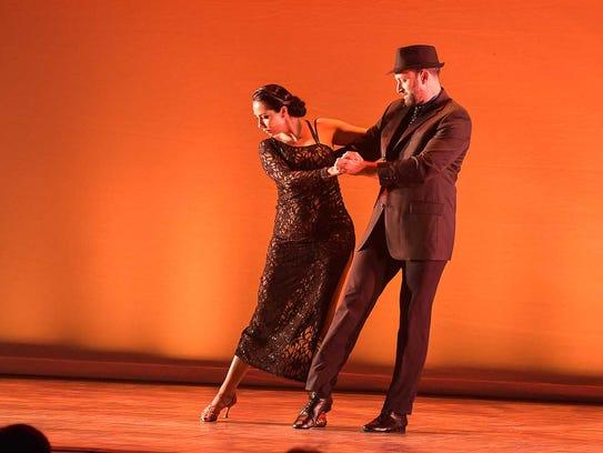 Star dancer Richard Giessert and instructor Marianella