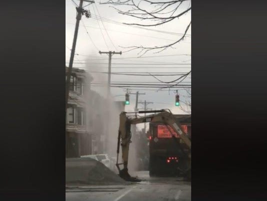 Water main break in York
