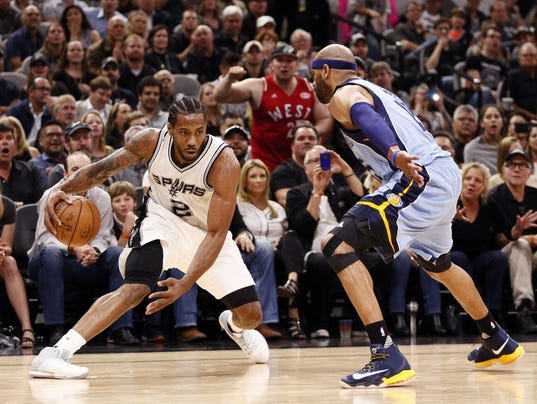 USP NBA: PLAYOFFS-MEMPHIS GRIZZLIES AT SAN ANTONIO S BKN SAS MEM USA TX