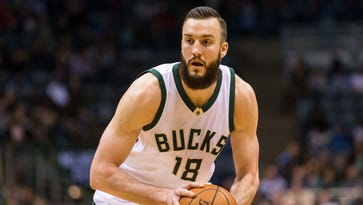 Miles Plumlee during a game against the Indiana Pacers at BMO Harris Bradley Center.