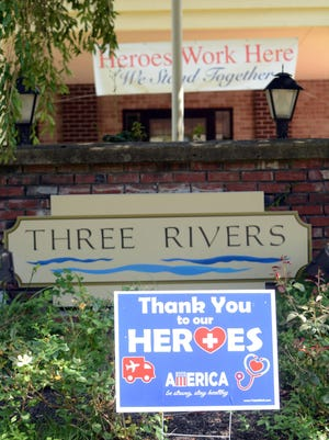 Three Rivers Nursing Home where there was a COVID-19 death of a resident and at least 21  infections on Crouch Street in Norwich.