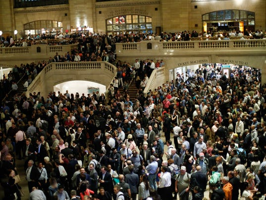 Severe Thunderstorm Snarls Evening Commute At New York's Grand Central, As Many Trains Suspended