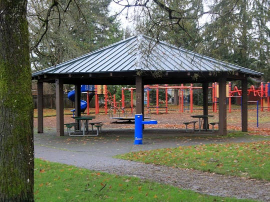 Hillview Park has a picnic shelter and playground equipment.
