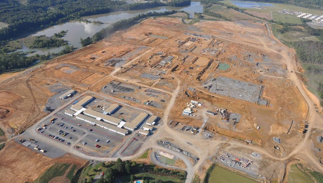 An aerial view of the Wacker Polysilicon plant Bradley County, Tenn.