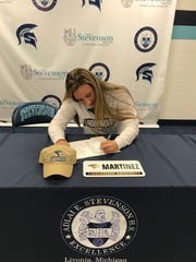 Livonia Stevenson senior Kayla Martinez signs to play women's hockey at Division I Lindenwood University.