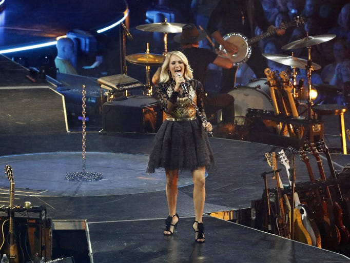 Carrie Underwood performs during her The Storyteller