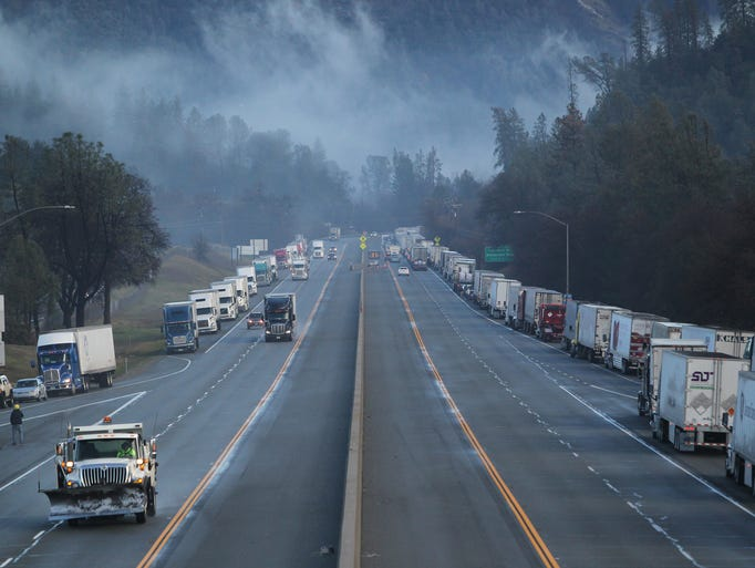 Northbound Interstate 5 was closed Wednesday at Fawndale