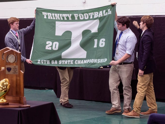 Trinity students unveil the newest addition to their