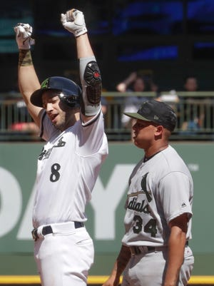 Ryan Braun says he's enjoying trying to get back on track after his slow start to the season.