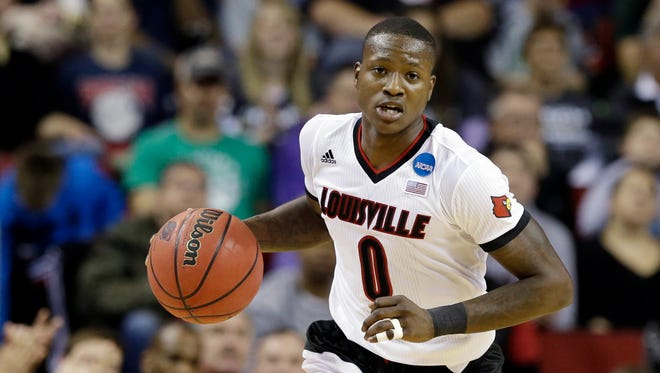 Louisville's Terry Rozier in action against Northern Iowa in an NCAA tournament college basketball game in the Round of 32 in Seattle, Sunday, March 22, 2015.