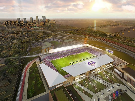 Rendering of the proposed 10,000-seat soccer stadium
