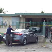 Guam police conducts an investigation