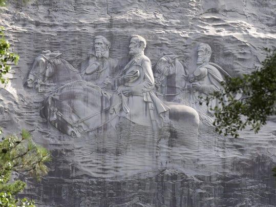 AP CONFEDERATE-MONUMENTS-STONE-MOUNTAIN A FILE USA GA