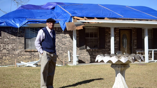 Pastor Carl Burkett's home was damaged in the Jan. 21 tornado in Petal. His church was also damaged this year and in February of 2013.