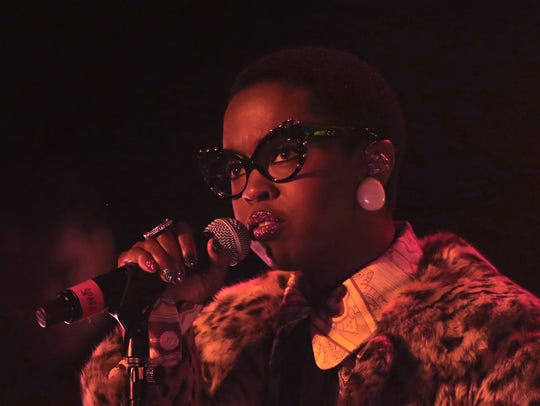 Lauryn Hill performs at the Murat Theatre in Old National