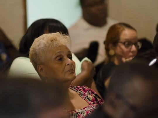 More than 100 people attended a town hall meeting to save Townsend Community Center at Mount Olive Baptist Church in Richmond on Sept. 22.