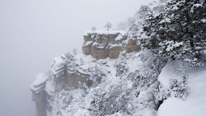 A Pennsylvania family was trying to reach the North Rim of the Grand Canyon, which is closed for the winter, when their car got stuck.