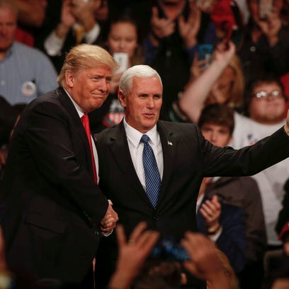 President-elect Donald Trump and Vice-president elect