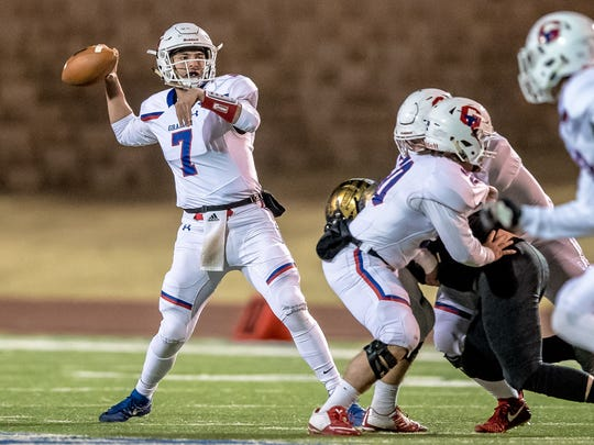 Graham's Tucker Horn threw for more yards and touchdowns than an area quarterback ever has.
