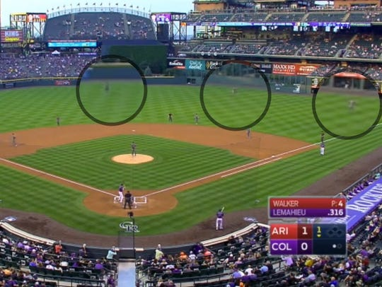 The Diamondbacks employ their extreme shift.