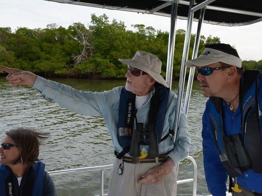 On a valedictory boat tour of Rookery Bay, Ted Below speaks with Rookery Bay Research Reserve Director Keith Laakkonn.
