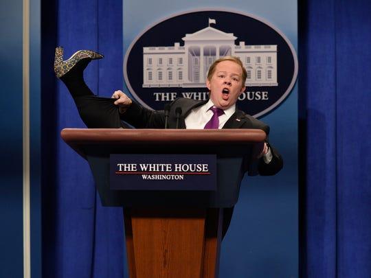 Melissa McCarthy as Sean Spicer during 'Saturday Night