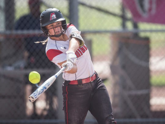 Davenport Assumption's Nicole Yoder is one of two 2019 Iowa signees competing at the state softball tournament in Fort Dodge.