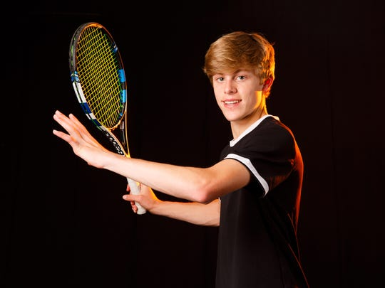 Judson Blair, a Sprague High School sophomore, is the winner of Boys Tennis Player of the Year for the 2018 Statesman Journal Mid-Valley Sports Awards. Photographed at the Statesman Journal in Salem on Tuesday, May 22, 2018.