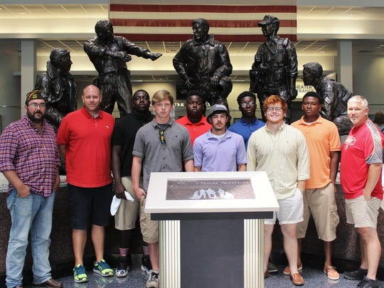 The Veterans of Foreign Wars Post 4833 in Milton recently hosted football team seniors from Vidalia High in Louisiana.